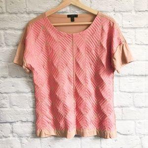 J. Crew Embroidered Herringbone T-shirt
